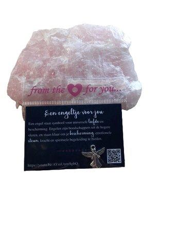 Cadeau kaartje met symbool (een engeltje voor jou)