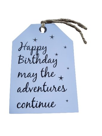 Kaart: happy birthday, may the adventures continue