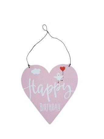 Ophang bordje: Happy Birthday