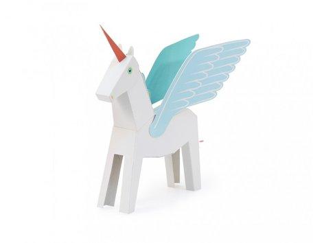 Unicorn wit/blauw bouwen