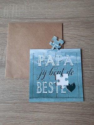Papa jij bent de beste♥ (puzzelkaart)