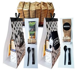 Cadeautas met Merci en cappuccino/voor jou