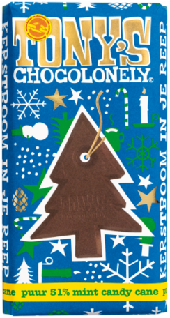 Tony's Chocolonely mint candy cane