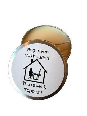 Kaars, nog even volhouden Thuiswerk Topper!