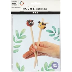 DIY potlood met kleifiguren