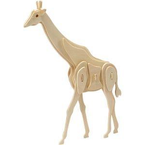 3d houten constructie set, Giraffe