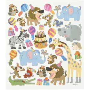 Stickervel met dieren