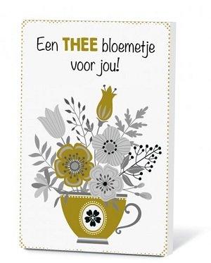 Een thee bloemetje voor jou (Thee in een kaartje)