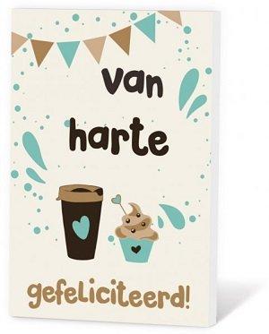 Van harte gefeliciteerd  (Koffie in een kaartje)