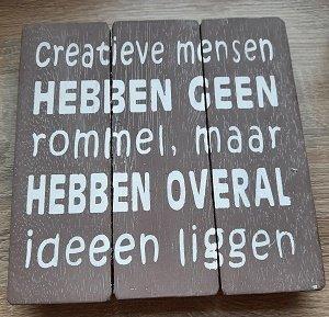 Creatieve mensen  (houten bord)