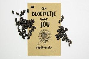 Een bloemetje voor jou (zonnebloemzaden)