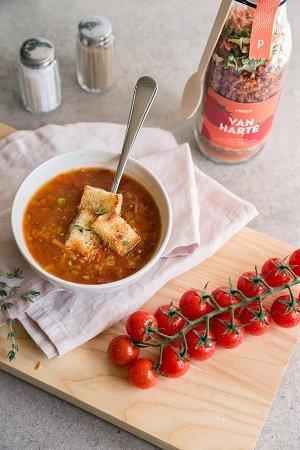 Van harte  (zelfmaak tomatensoep)