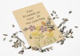 Een bloemetje voor je verjaardag (zonnebloemzaden)