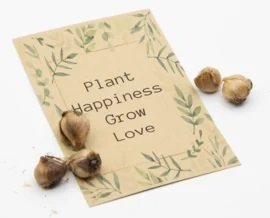Plant happiness grow love (klavertje vier)