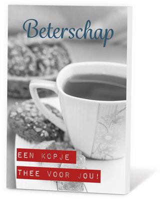Beterschap, een kopje thee voor jou!  (Thee in een kaartje)