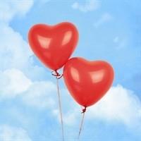 Ballonnen rood hart