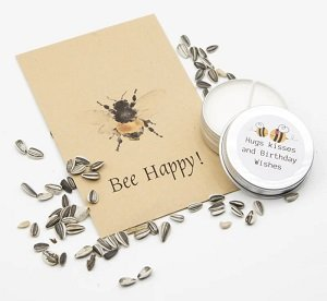 Bee Happy! + hugs kisses and birthday wishes