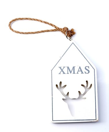 Wit houten hanger kerst
