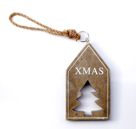 Houten hanger kerst