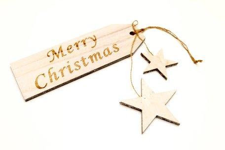Houten hanger Merry Christmas
