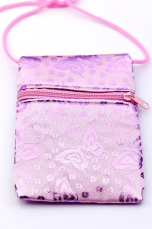 Kindertasje vlinder licht roze