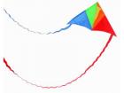 Delta vlieger met slierten