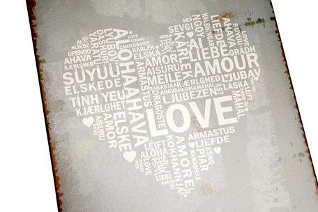 Tekstbord Love