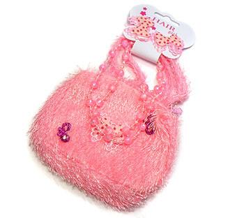Kindertasje roze met accesoires