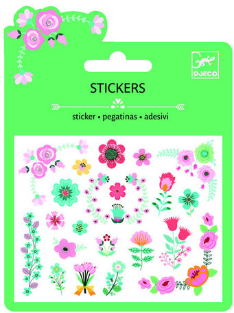 Djeco mini stickers bloem