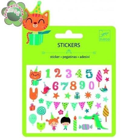 Djeco mini stickers Feest