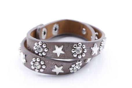 Stoere armband ster/bloem