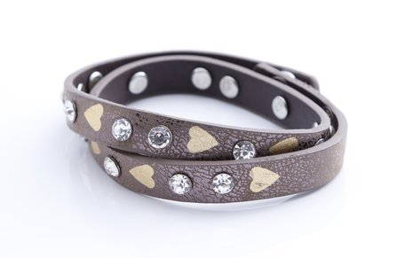 Stoere armband met hartjes