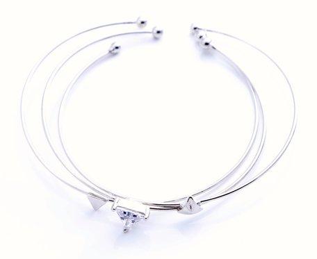 3 zilverkleurige armbanden