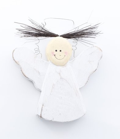 Wit houten engeltje