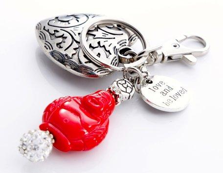 Boeddha met hart (rood)