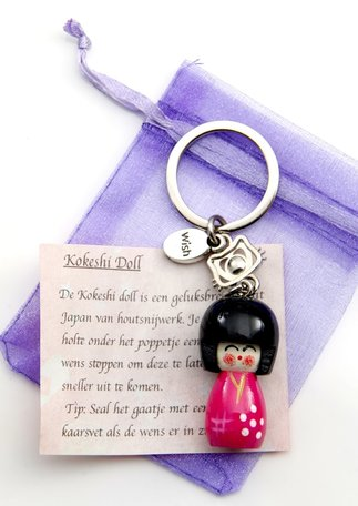 Kokeshi Doll (roze)