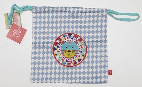 Kindertasje blauwe ruit beer