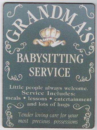 bordje grandma's babysitting service