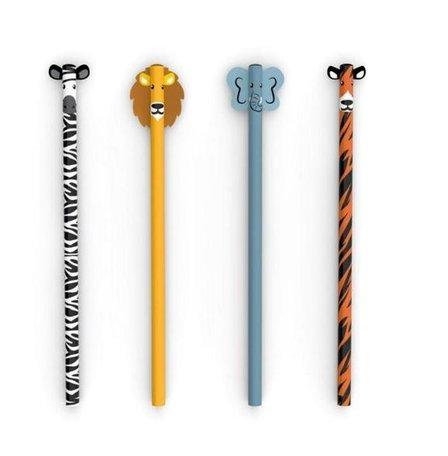 Safari potloden (vier stuks)