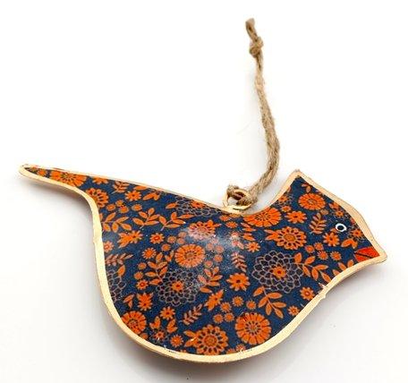 Vogel gekleurd patroon metaal (assorti)