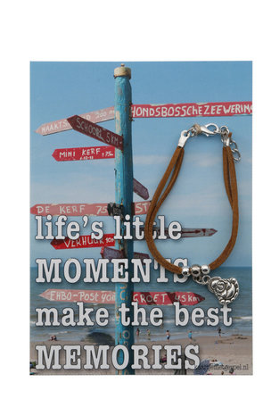 Kaart met armband, life's little moments