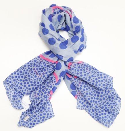 Sjaal, blauw/roze