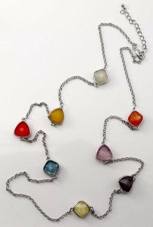 Damesketting, rhodium gekleurd