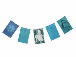 Wensvlaggetjes, samen (blauw)