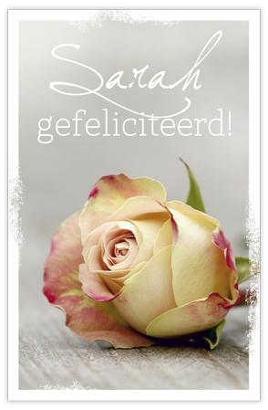 Sarah gefeliciteerd (geurzakje)