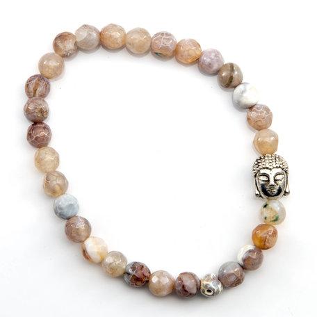 Boeddha armband (Laguna Agaat)
