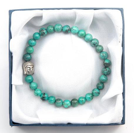 Boeddha armband (Afrikaans Turquoise)