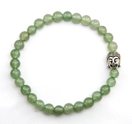 Boeddha armband (Jade lichtgroen)
