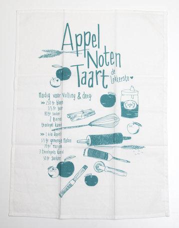 Appel noten taart, theedoek