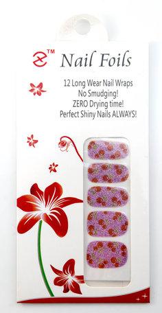 Nail wraps kersen (roze met rood)